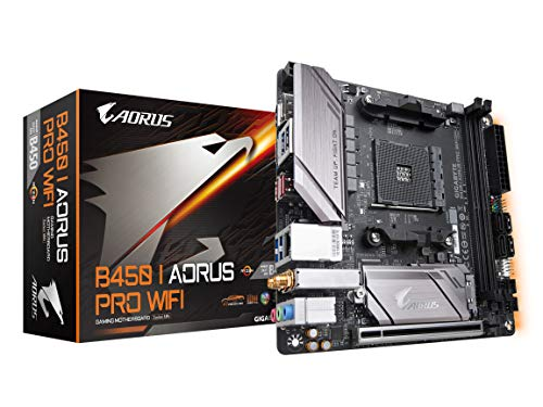 GIGABYTE B450 I AORUS PRO Wi-Fi (AMD Ryzen AM4/Mini ITX/M.2 Thermal Guard with Onboard Wi-Fi/HDMI/DP/USB 3.1 Gen 2/Motherboard)