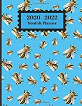 2020-2022 Monthly Planner: Honey Bumble Bees Nature Design Cover 2 Year Planner Appointment Calendar Organizer And Journal Notebook 8.5 X 11