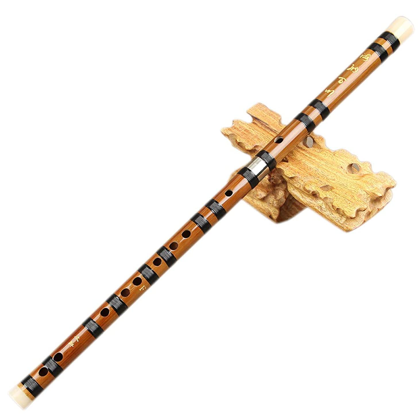 Guanso Bamboo Flute Separable Brass Single Insertion C,D,E,F,G Key Professional Tuning 4 Years or More Drying Treatment for Beginner (Color : C Key)