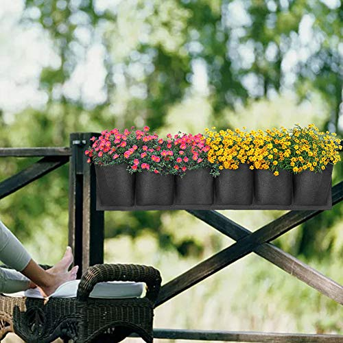 MANTFX Bolsas Colgantes para Cultivo De Plantas, Contenedor De Flores De Jardinería Horizontal, Jardín De Pared Vertical Transpirable Impermeable