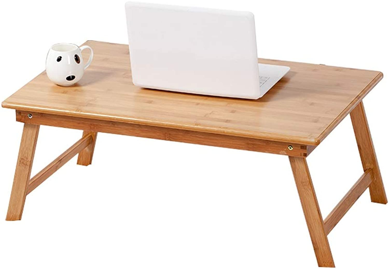 Laptop Table Foldable Small Table Simple Lazy Reading Table Learning Desk Sofa Portable Table, Bamboo(60x40cm)