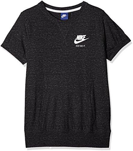 Nike Sportswear Vintage Camiseta, Niñas, Multicolor (Negro/Azul Brillante), M
