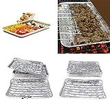 Kunyun 40 bandejas de parrilla de aluminio desechables rectangulares para tartas.