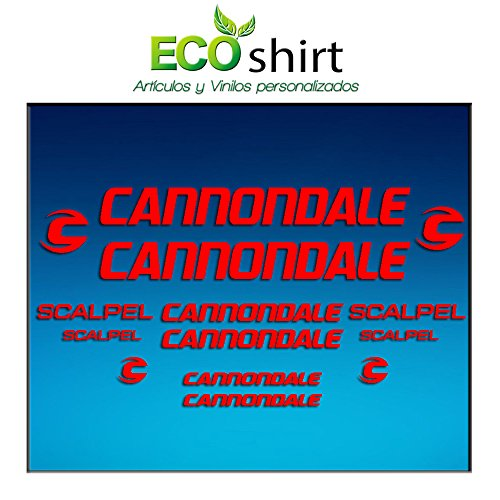 Ecoshirt DZ-VCYB-V9BU stickers lijst cannondale scalpel Am26 sticker Decals Bike BTT MTB Cycle Red
