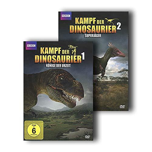 Kampf der Dinosaurier 1 + 2 - Könige der Urzeit + Superjäger [2 DVDs]