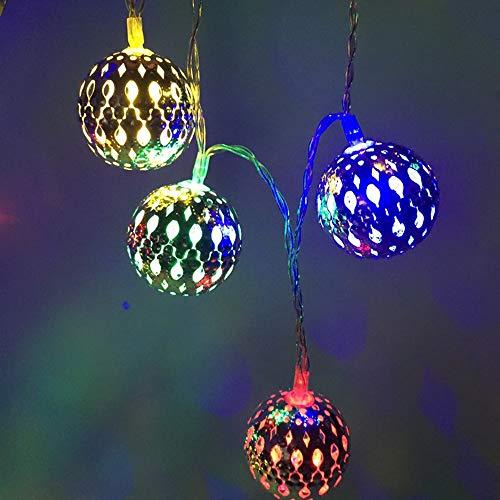 FNCUR Luz LED Cadena 2 Metros 20 Luces De Cadena Forjado Caja De Batería Hierro Luz De Navidad Luces De La Decoración Luces De La Batería De Estrellas Las Luces De Cadena Luces del Árbol