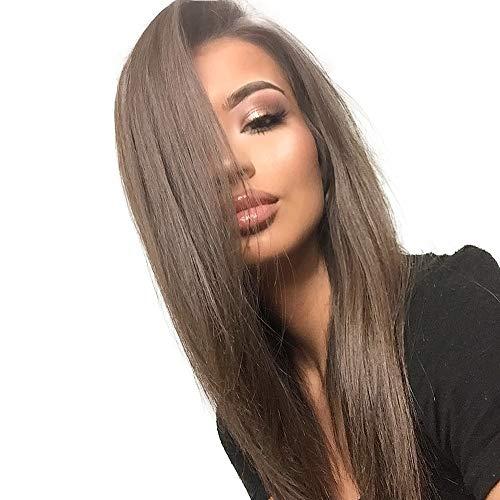 Arc Neige Vert Brun 13x6 Synthétique Avant de Lacet Perruques pour les Femmes Noires Kanekalon Futura Japan Résistant À La Chaleur Cheveux Longs Droite Synthétique