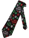 Corbata Corbata De Feliz Navidad Para Hombre Corbata Negra Corbata Corbatas Corbata De Seda,Largo145Cm