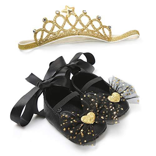 Zapatos de Vestir de Princesa con Diadema para niñas, Juego de Regalo...