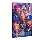 Dr Dre Ice Cube Snoop Dogg Eminem Leinwand Poster