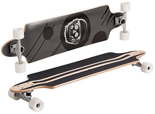 SportPlus Medium concave Skateboard, Negro y Gris, Talla Única