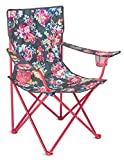 Vera Bradley Portable Folding Chair with Cup Holders and Matching Cover with Shoulder Strap, Holds Up to 225 Pounds, Pretty Posies