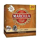 Marcilla Café Largo Cápsulas, Intensidad 10, 20 Cápsulas