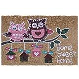Felpudo pink owl fibra de coco 60 x 40 cm felpudo coco. 15 mm. espesor. impresión acrílica.