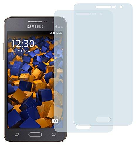 mumbi Schutzfolie kompatibel mit Samsung Galaxy Grand Prime Folie klar, Displayschutzfolie (2X)