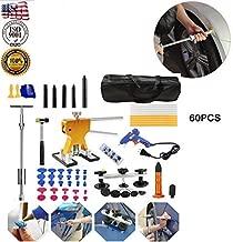 60pcs Metal Dent Lifter Puller,Car Body Paintless Dent DIY Repair Kits,Pulling Bridge Instruments,Dent Repair Tools Kit for Cars,PDR Accessory Metal & Nylon Knock Down Glue Gun Suction Puller Set