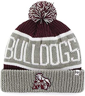NCAA Mississippi State Bulldogs Cuffed Knit Hat Maroon//White//Gray One Size Fits All