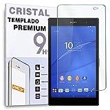 REY Protector de Pantalla para Sony Xperia Z3 Compact 8', Cristal Vidrio Templado Premium Táblet