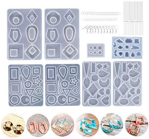 Kit de molde de fundición de resina para hacer joyas Pendientes Moldes...