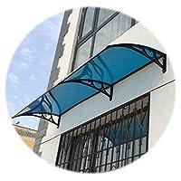 GuoWei ドアキャノピーオーニング、 耐候性のある半透明のポリカーボネートシェルター、 ガーデンテラス日焼け止めカバー、 カスタムサイズ (Color : Blue, Size : 80x160cm)