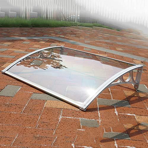 Terras luifel tuin luifel, Shelter voorzijde veranda dakbedekking, mechanische gebogen PC Endurance Board Design, Geschikt voor voordeur - Multi-size