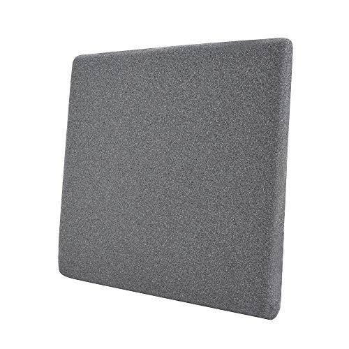 AmazonBasics - Cojín viscoelástico para asiento, gris, cuadrado