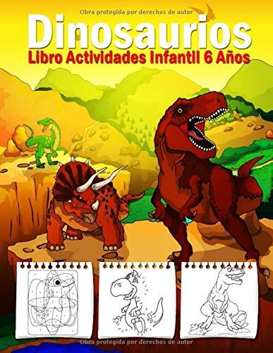 Libro Actividades Infantil 6 Años - Dinosaurios: 108 Páginas Grande Actividades, Libro Para Colorear Niños Dinosaurios, Crucigramas Faciles En Ingles, ... Conecta Los Puntos, Colorear Por Numeros!