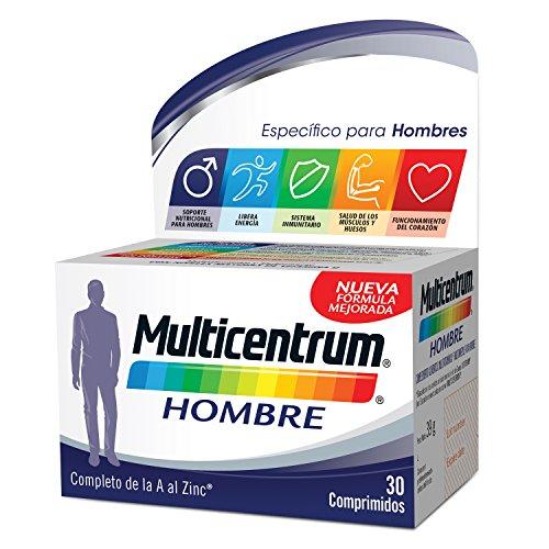 Multicentrum Hombre, Complemento Alimenticio con 13 Vitaminas y 11 Minerales, para Hombres a partir de los 18 años - 30 Comprimidos