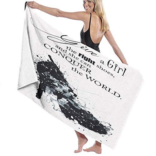 Grande Morbido Leggero Asciugamano da Bagno Coperta,Citazione di scarpe da donna di moda,Telo da Bagno Telo Mare per la Famiglia Hotel Viaggio Nuoto Gli Sport Oggettistica per la Casa,52' x 32'