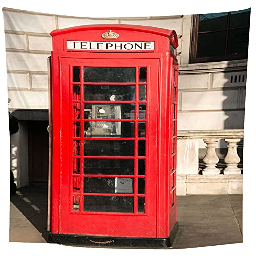 binghongcha Tapiz Cabina De Teléfono Indio Pensamiento Mágico Hippie Mandala Bohemio Colgante De Pared Decoraciones Decoración De Tela De Pared 220(H) X240(An) Cm
