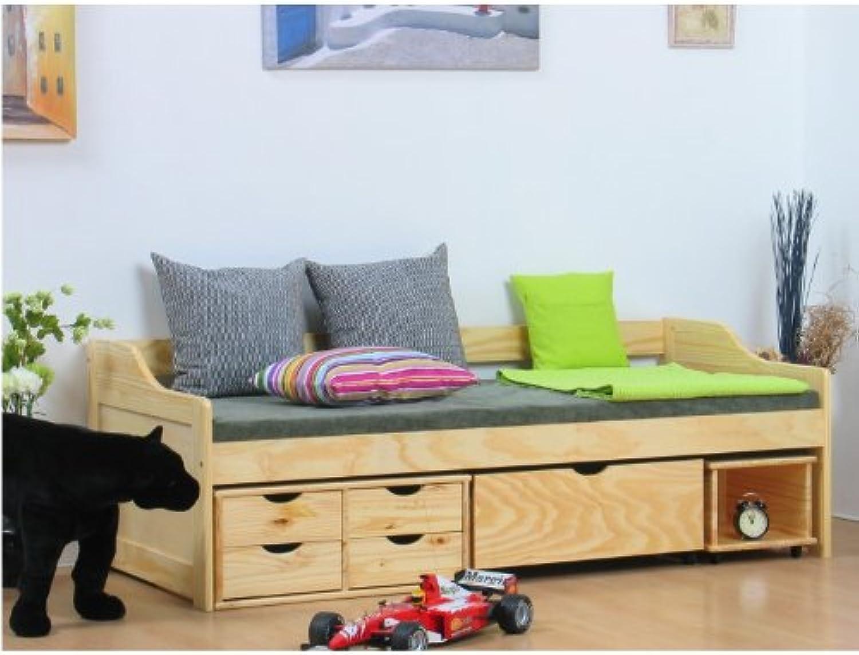 Einzelbett MAXIMA 90 x 200 Bettgestell Jugendbett Gstebett Bett Massiv