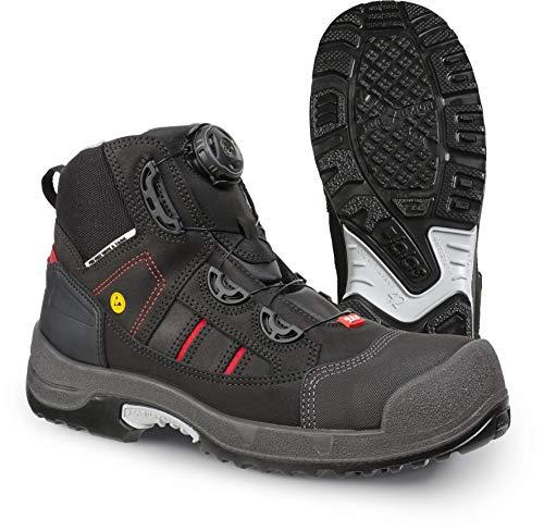 Jalas 1718 Zenit Easyroll Ultralight Hi-Tech Scandinavian Style Safety Shoes - Steel Toe - Nail Protection (Numeric_9) Black