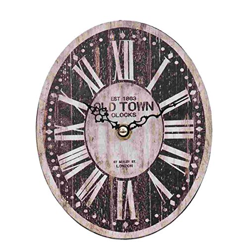 Clayre & Eef 6KL0319 klok wandklok OLD TOWN CLOCKS ca. 15 x 5 x 18 cm.