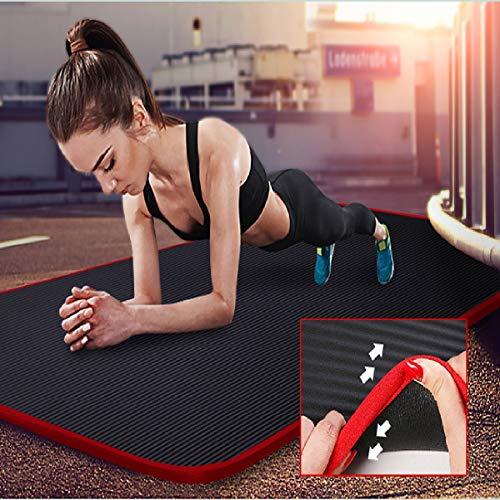 Butterfly BB Yoga-Matte, Umwelt NBR, rutschfeste Sportmatte, verdickt, verbreitert und verlängert, die für Anfänger von Yoga, Pilates und Gymnastik