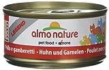 Almo Nature Legend - Alimento para gatos, pollo y gambas, 6x 70gramos