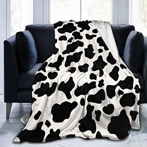 Teash Manta Manta con Estampado de Vaca Manta de vellón de Microfibra Premium Manta de Cama cálida y súper Suave Sofá Cama decorativa127 * 102 cm