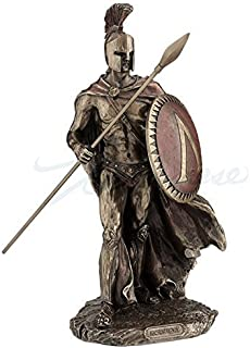 Leonidas Spartan King with Spear & Shield Statue