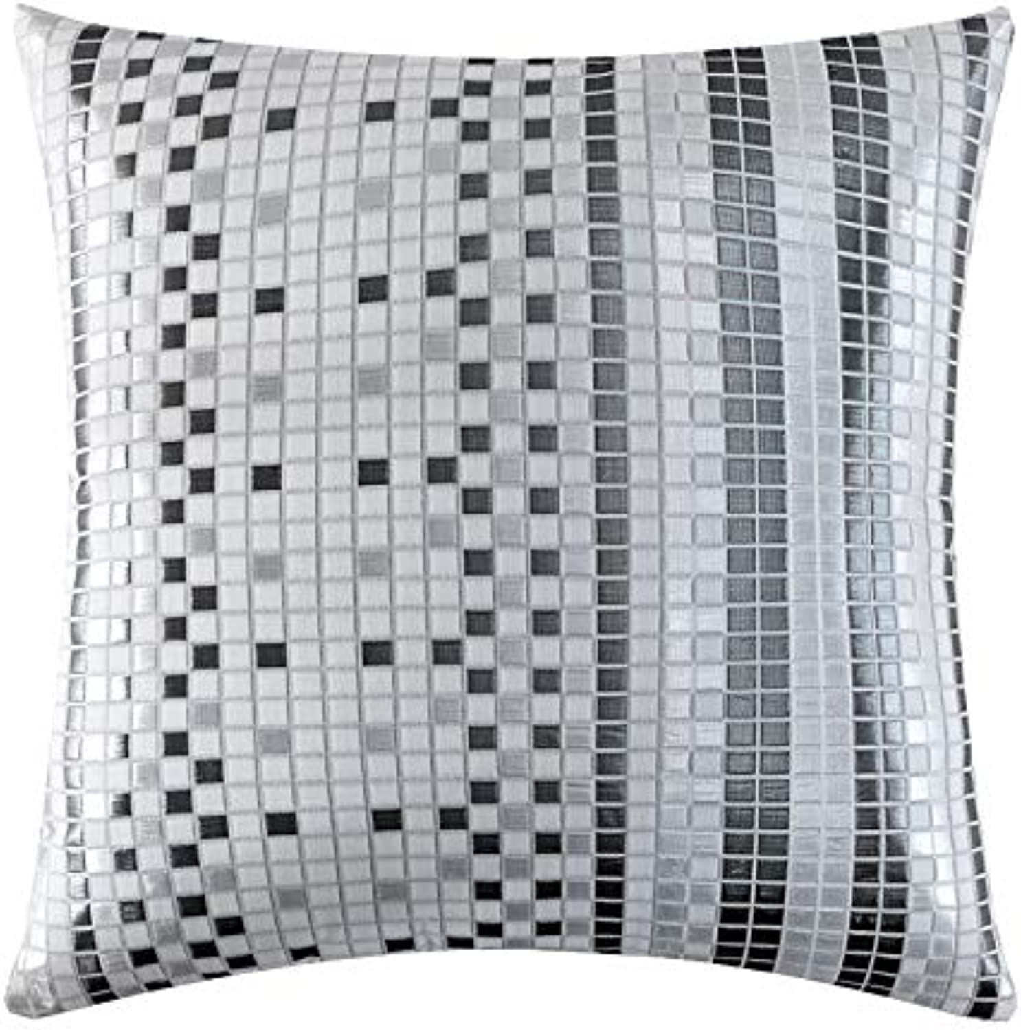 LLIND Home Metallic Mosaic Jacquard Pillow Sofa Pillow Simple Home (Size   45x45cm)