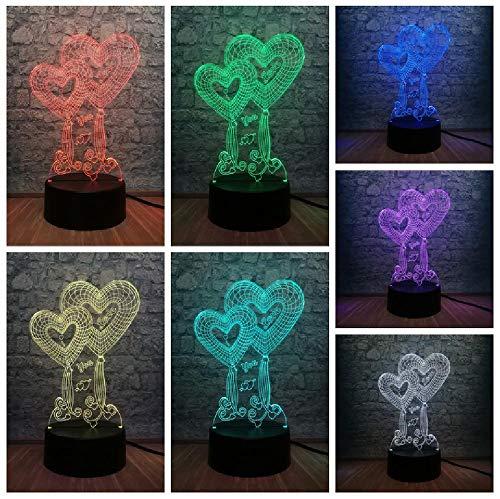 Liefde Heart Ballon 3D LED USB-lamp bruiloft Home Decoration kleurrijk nachtlampje geschenk romantische gadget meisje verjaardagscadeau remote telefoon Bluetooth besturingskleur