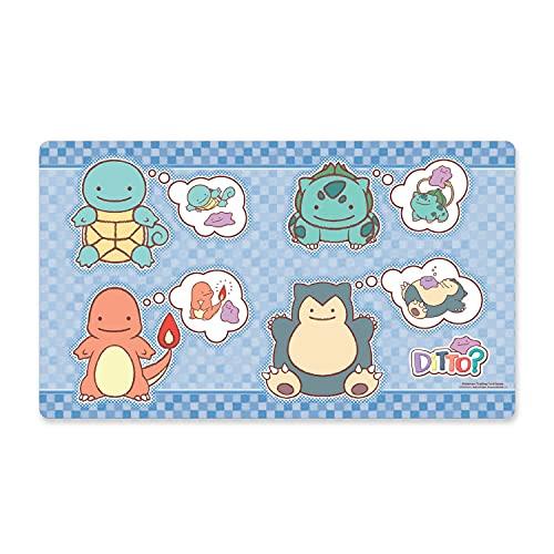海外ポケモンセンター限定 ポケモンカードゲーム プレイマット へんしん!メタモン Ditto As Squirtle, Bulbasaur, Charmander & Snorlax Playmat