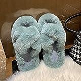 B/H Andar por casa,Zapatillas de algodón de Suela Gruesa de Moda, Zapatos caseros Antideslizantes Impermeables-A_35,Pantuflas Cómodas