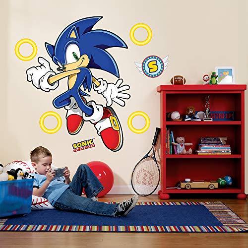 BirthdayExpress Sonic the Hedgehog Room Decor - Giant Wall Decals