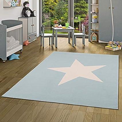 pergamon trendline kids tapis pour enfant motifs etoile bleu pastel 5 tailles disponibles
