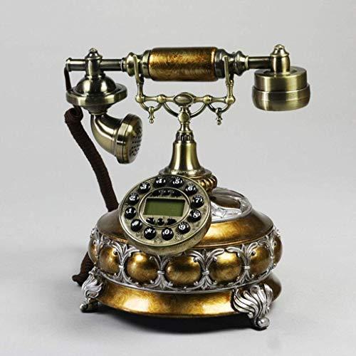 LDDZB Teléfono Retro Teléfono Vintage Teléfono Europeo Teléfono Hogar Fijo Retro Retro Teléfono Creativo Antiguo Moda Metal de Resina (Color: B) (Color: A) (Color : A)