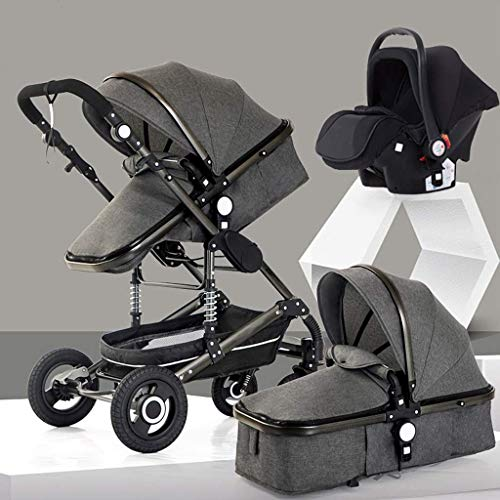 Best Bargain 3 in 1 Pushchair Stroller,Anti-Shock Lightweight Baby Carriage, Compact Buggy Strolle...