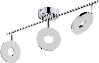 Barre de spots LED Plafonnier Luminaire de plafond 3 spots orientables Lampe à suspension Éclairage intérieur Métal