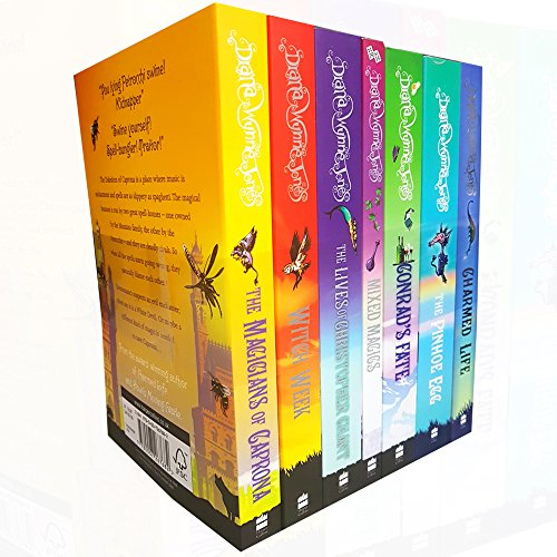 The Chrestomanci Series Collection - 7 Books RRP £46.93 (Charmed Life; [2] The Magicians of Caprona; [3] Witch Week; [4] The Lives of Christopher Chant; [5] Mixed Magics; [6] Conrad?s Fate; [7] The Pinhoe Egg)
