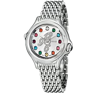 Fendi Crazy Carats Ladies-small Silver Diamond Dial Stainless Steel Watch F105026000D1T02 Prices and For Your and review image
