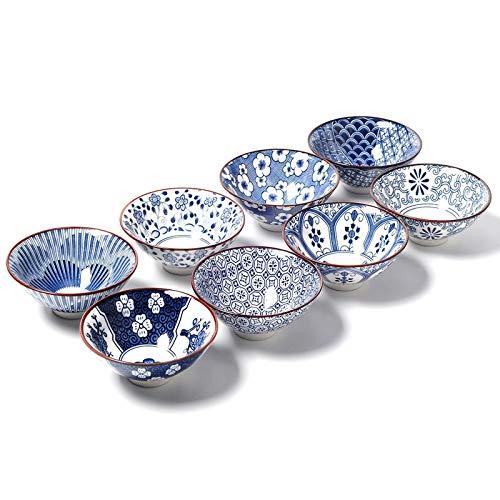 8 tazas de cerámica para té, taza de té, taza de sake, 50 ml, taza maestra, pequeños cuencos de té, decoración de regalo (8 piezas)