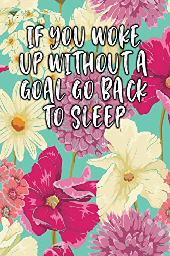 If You Woke Up Without a Goal Go Back to Sleep: Lined Diary